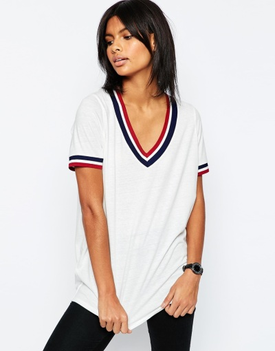 ASOS Varsity Tunic With Tipping