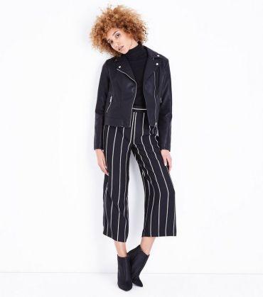 1. black-leather-look-cropped-biker-jacket