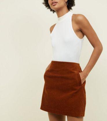 4. dark-brown-corduroy-mini-skirt
