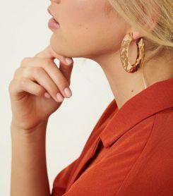 6. gold-beaten-oval-hoop-earrings