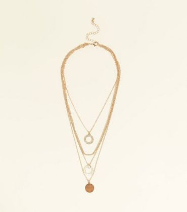 9. gold-chain-layered-circle-pendant-necklace